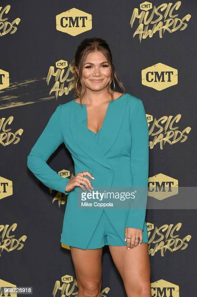 Recording artist Abby Anderson attends the 2018 CMT Music Awards at Bridgestone Arena on June 6 2018 in Nashville Tennessee