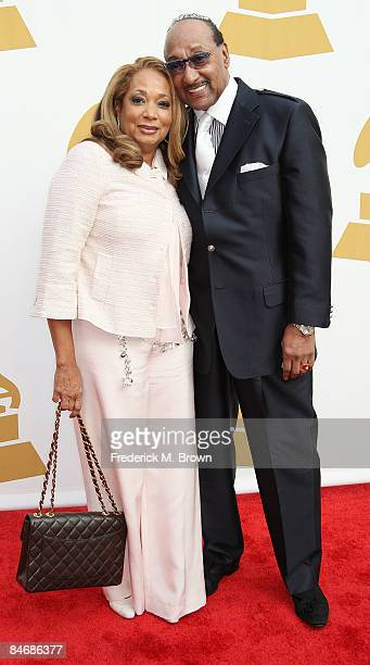 """Recording artist Abdul """"Duke"""" Fakir and his wife attend The Recording Academy's Special Merit Awards Ceremony at the Wilshire Ebell Theater on..."""