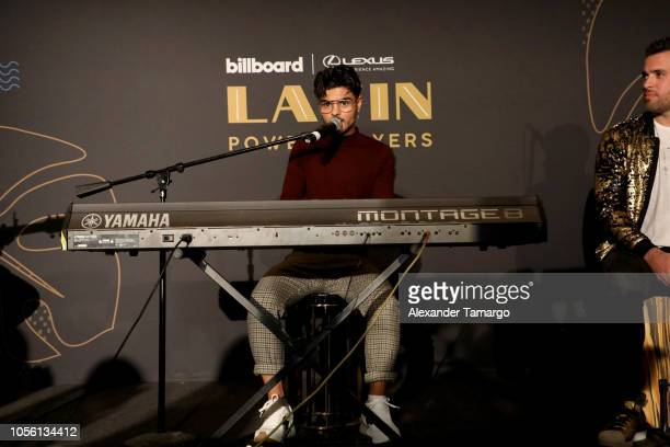 Recording artist Abraham Mateo performs live on stage Billboard 2018 Latin Power Players at W South Beach on November 1 2018 in Miami Beach Florida