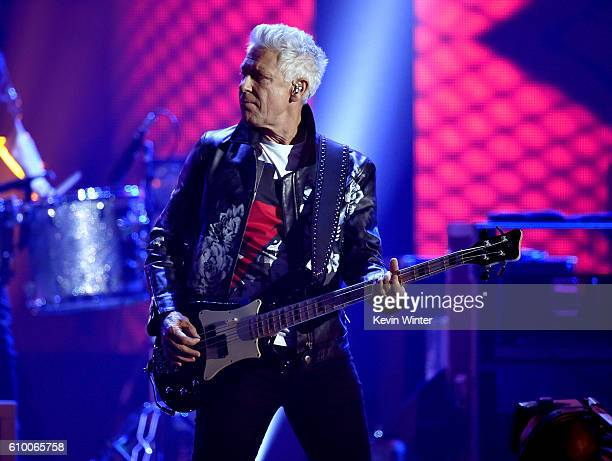 Recording artist Adam Clayton of music group U2 performs onstage at the 2016 iHeartRadio Music Festival at TMobile Arena on September 23 2016 in Las...