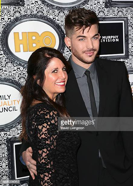 Recording artist Adam Lambert and mother Leila Lambert attend the Family Equality Council's Annual Los Angeles Awards Dinner at The Globe Theatre on...