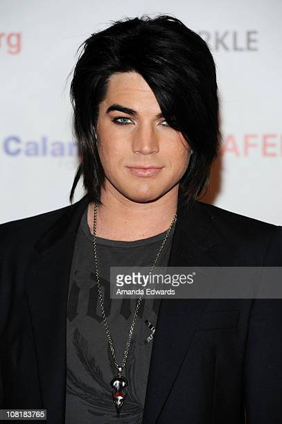 Recording artist Adam Lambert arrives at Elton John's private benefit concert for the American Foundation for Equal Rights on January 19 2011 in Los...