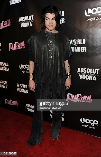 Recording artist Adam Lambert arrives at the premiere of RuPaul's Drag Race Season 3 at Rage on January 18 2011 in West Hollywood California
