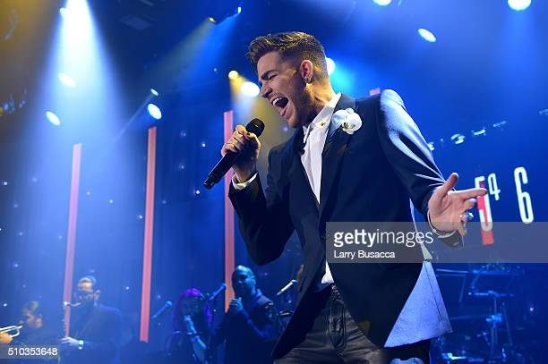Recording artist Adam Lambert performs onstage during the 2016 PreGRAMMY Gala and Salute to Industry Icons honoring Irving Azoff at The Beverly...