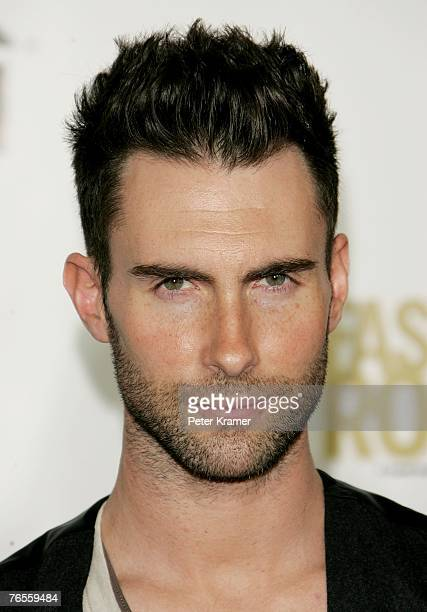 Recording artist Adam Levine attends the Conde Nast Media Group's Fourth Annual Fashion Rocks Concert at Radio City Music Hall September 6 2007 in...