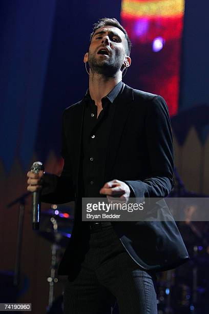Recording artist Adam Levine of Maroon 5 performs onstage at Z100's Zootopia at Nassau Coliseum May 18 2007 in Uniondale New York