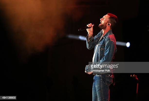Recording artist Adam Levine of Maroon 5 performs onstage during CBS RADIOs third annual We Can Survive, presented by Chrysler, at the Hollywood Bowl...