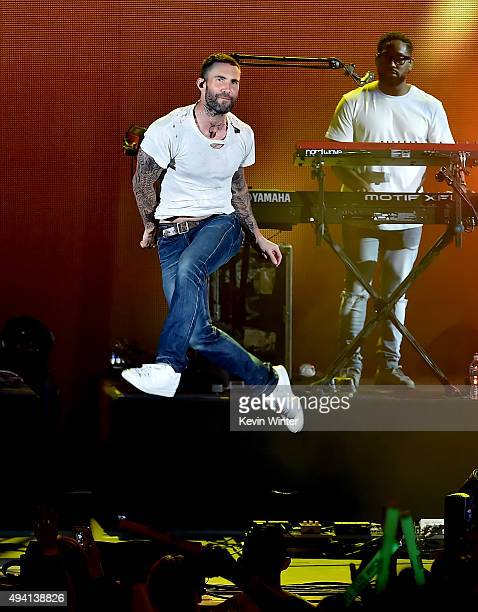 Recording artist Adam Levine of Maroon 5 performs onstage during CBS RADIOs third annual We Can Survive presented by Chrysler at the Hollywood Bowl...