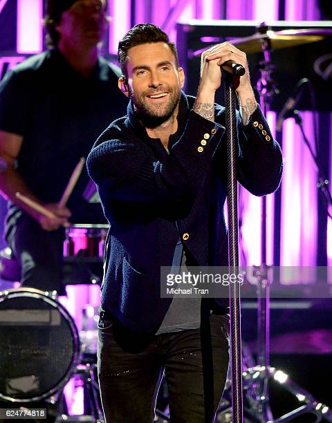 Recording artist Adam Levine of the band Maroon 5 performs onstage during the 2016 American Music Awards held at Microsoft Theater on November 20...