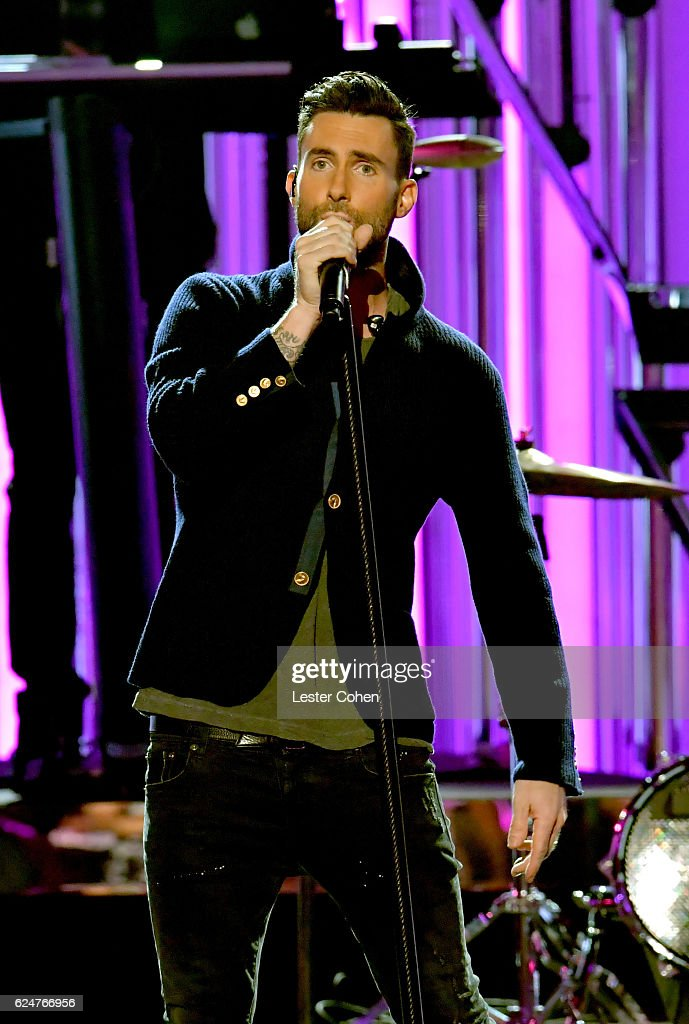 Recording artist Adam Levine performs onstage at the 2016 American Music Awards at Microsoft Theater on November 20, 2016 in Los Angeles, California.