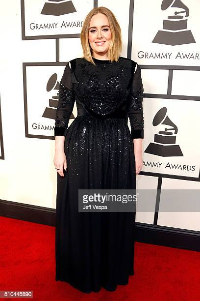 Recording artist Adele attends The 58th GRAMMY Awards at Staples Center on February 15 2016 in Los Angeles California