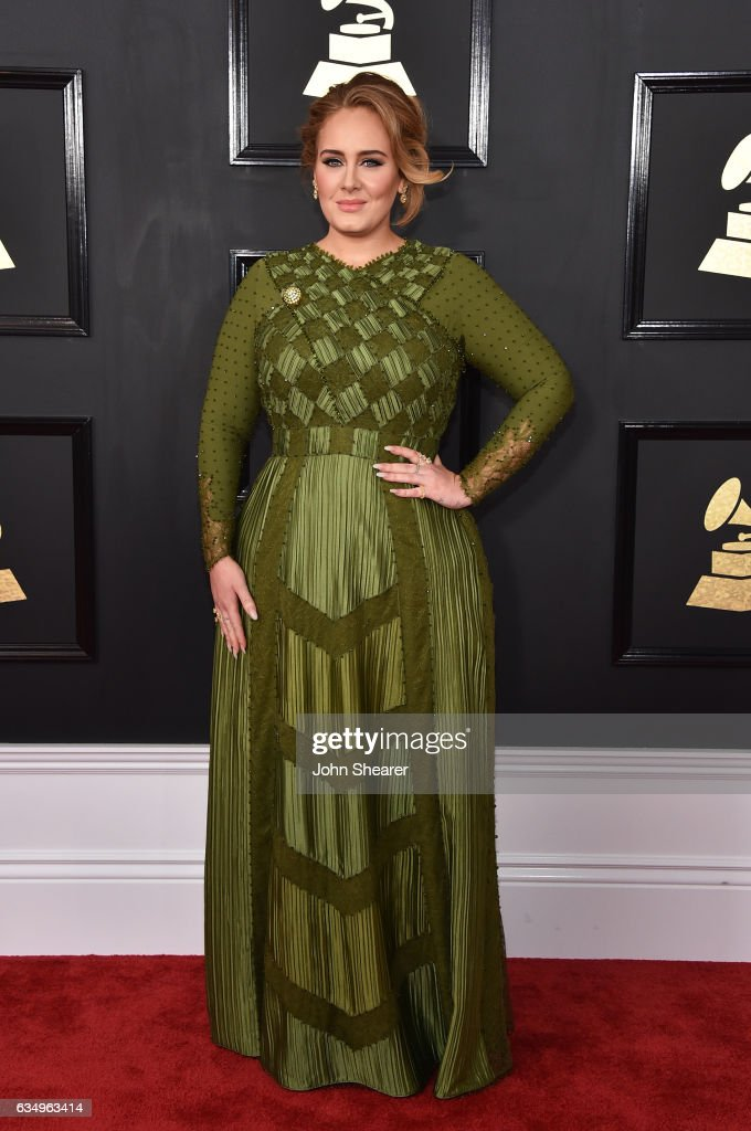 Recording artist Adele attends The 59th GRAMMY Awards at STAPLES Center on February 12, 2017 in Los Angeles, California.