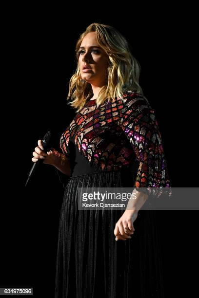 Recording artist Adele performs onstage during The 59th GRAMMY Awards at STAPLES Center on February 12 2017 in Los Angeles California