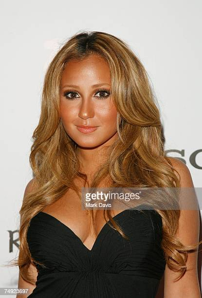Recording artist Adrienne Bailon arrives to Zomba Label Group's PreBET Awards Party featuring Ciara held at Ritual Nightclub on June 25 2007 in...