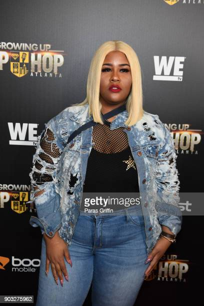 Recording artist Akbar V attends 'Growing Up Hip Hop Atlanta' season 2 premiere party at Woodruff Arts Center on January 9 2018 in Atlanta Georgia