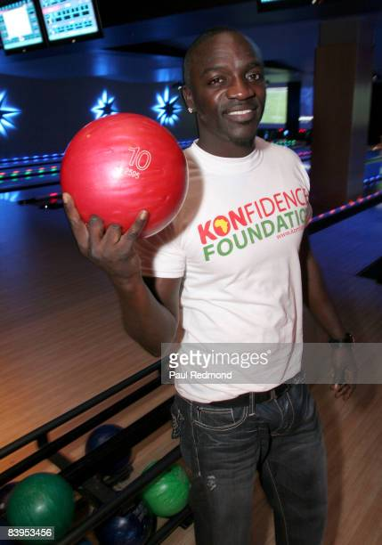 Recording artist Akon attends Children's Holiday Bowl and Toy Drive benefiting the Children of South LA's youth center A Place Called Home hosted by...