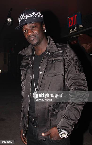 Recording artist Akon attends DJ Clue's birthday party at M2 Ultra Lounge on January 21, 2010 in New York City.