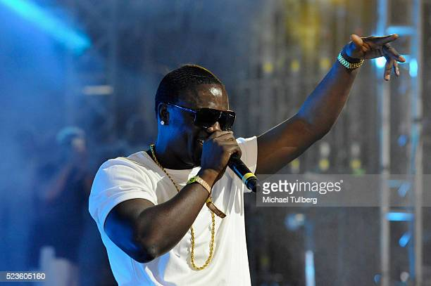 Recording artist Akon performs onstage with DJ Matoma during day 2 of the 2016 Coachella Valley Music Arts Festival Weekend 2 at the Empire Polo Club...