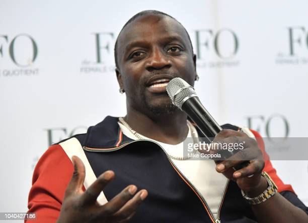 Recording artist Akon speaks on stage at the 3rd Annual Global Goals World Cup at the SAP Leonardo Centre on September 25 2018 in New York City