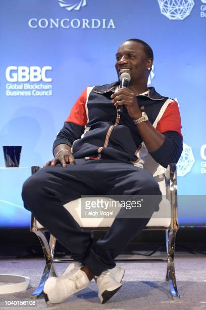 Recording artist Akon speaks onstage during the 2018 Concordia Annual Summit Day 2 at Grand Hyatt New York on September 25 2018 in New York City