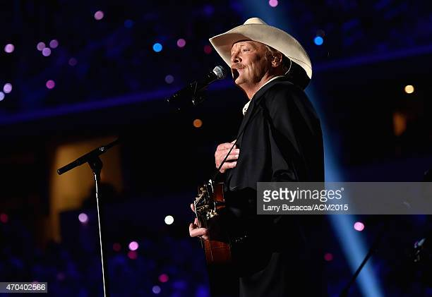 Recording artist Alan Jackson performs onstage during the 50th Academy of Country Music Awards at ATT Stadium on April 19 2015 in Arlington Texas