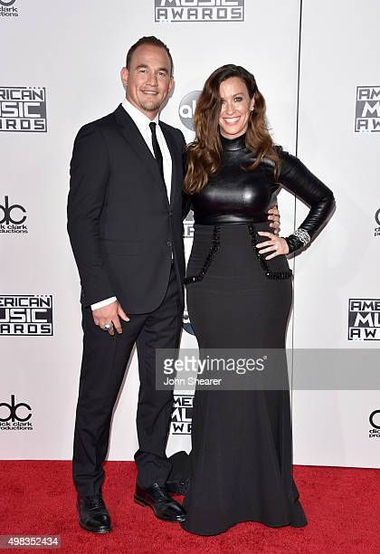 Recording artist Alanis Morissette and musician Mario Treadway attend the 2015 American Music Awards at Microsoft Theater on November 22 2015 in Los...