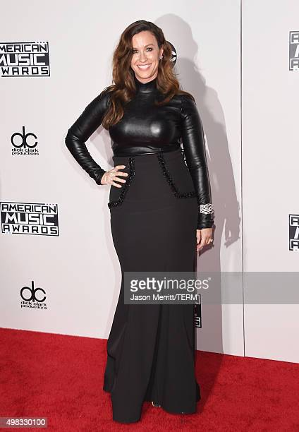 Recording artist Alanis Morissette attends the 2015 American Music Awards at Microsoft Theater on November 22 2015 in Los Angeles California