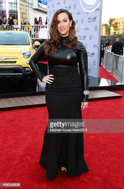 Recording artist Alanis Morissette attends the 2015 American Music Awards red carpet arrivals sponsored by FIAT 500X at LA Live on November 22 2015...