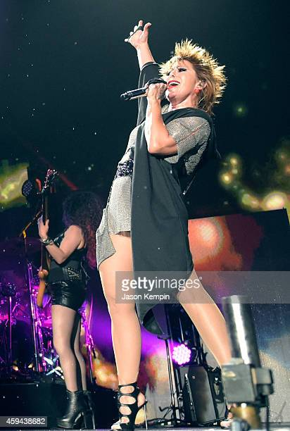 Recording artist Alejandra Guzman performs onstage during the iHeartRadio Fiesta Latina festival presented by Sprint at The Forum on November 22,...