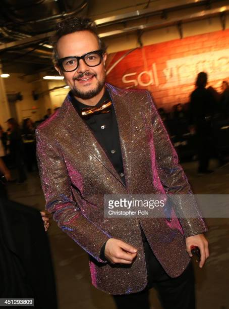 Recording artist Aleks Syntek poses backstage during the 14th Annual Latin GRAMMY Awards held at the Mandalay Bay Events Center on November 21 2013...