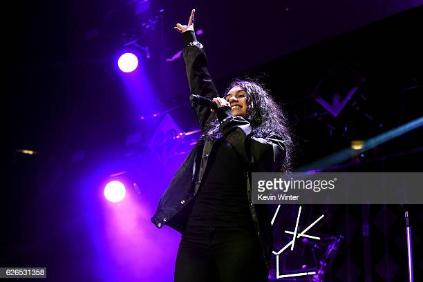 Recording artist Alessia Cara performs onstage at 1061 KISS FM's Jingle Ball 2016 presented by Capital One at American Airlines Center on November 29...