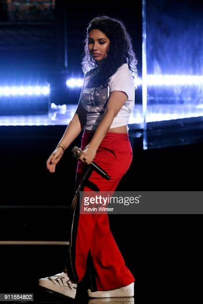 Recording artist Alessia Cara performs onstage during the 60th Annual GRAMMY Awards at Madison Square Garden on January 28 2018 in New York City