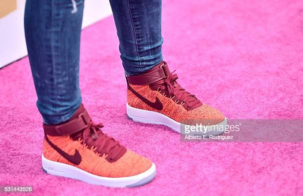 Recording artist Alessia Cara, shoe detail, attends KIIS FM's Wango Tango 2016 at StubHub Center on May 14, 2016 in Carson, California.
