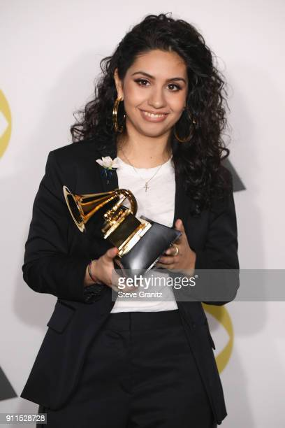 Recording artist Alessia Cara winner of Best New Artist poses in the press room during the 60th Annual GRAMMY Awards at Madison Square Garden on...
