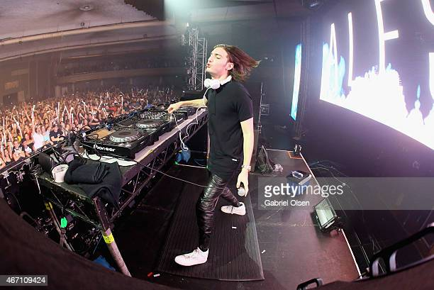 Recording artist Alesso performs at 971 AMP Radio Presents AMPLIFY 2015 at the Hollywood Palladium on March 20 2015 in Los Angeles California