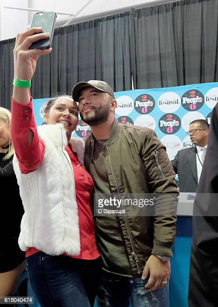 Recording artist Alex Sensation poses backstage during the 5th Annual Festival PEOPLE En Espanol Day 2 at the Jacob Javitz Center on October 16 2016...