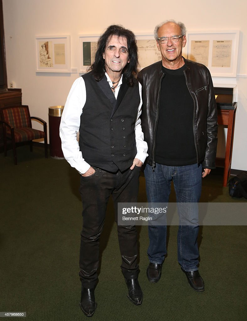 Recording artist Alice Cooper and talent manager Shep Gordon attend 'Super Duper Alice Cooper' Screening And Conversation Alice Cooper And Anthony DeCurtis at 92nd Street Y on October 27, 2014 in New York City.