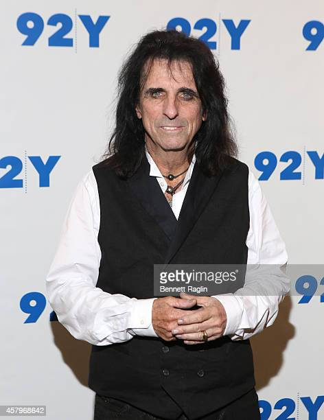 Recording artist Alice Cooper attends 'Super Duper Alice Cooper' Screening And Conversation Alice Cooper And Anthony DeCurtis at 92nd Street Y on...