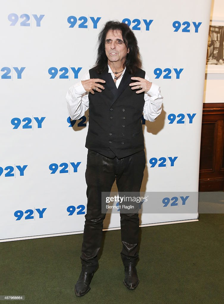 Recording artist Alice Cooper attends 'Super Duper Alice Cooper' Screening And Conversation Alice Cooper And Anthony DeCurtis at 92nd Street Y on October 27, 2014 in New York City.