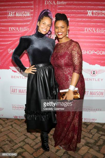 Recording artist Alicia Keys and Fellowship Recipient Shenequa attend ART MAISON celebrates Daniel Arsham Fellowship with National YoungArts...