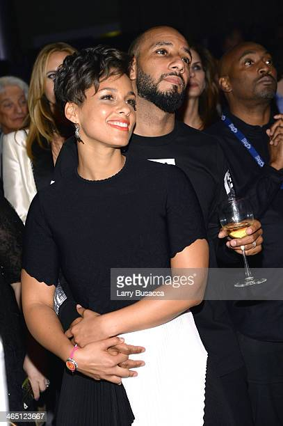 Recording artist Alicia Keys and producer Swizz Beatz attend the 56th annual GRAMMY Awards PreGRAMMY Gala and Salute to Industry Icons honoring...