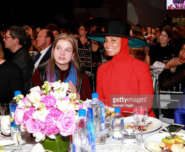 Recording artist Alicia Keys attends the Billboard's Women In Music 2018 with FIJI water at Pier 36 on December 6 2018 in New York City