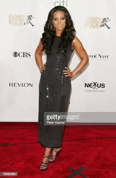 Recording artist Alicia Keys attends the Conde Nast Media Group's Fourth Annual Fashion Rocks Concert at Radio City Music Hall September 6 2007 in...