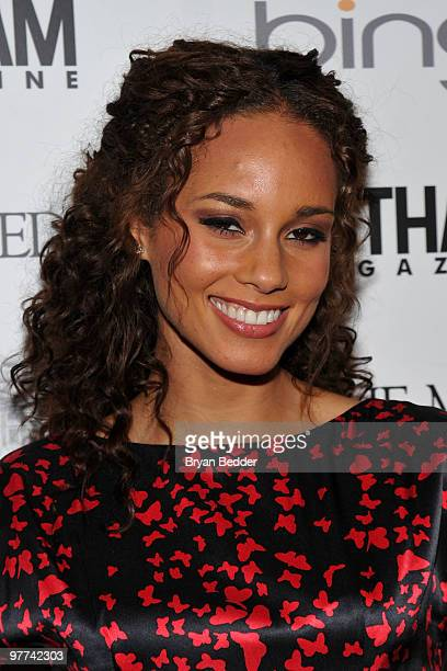 Recording artist Alicia Keys attends the Gotham Magazine annual gala presented by Bing at Capitale on March 15 2010 in New York City