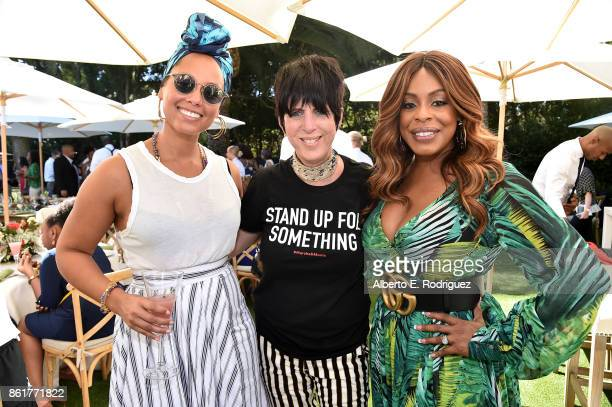 Recording artist Alicia Keys songwriter Diane Warren and actress Niecy Nash attend Oprah Winfrey's Gospel Brunch celebrating her new book 'Wisdom of...