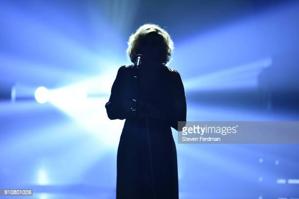 Recording artist Alison Krauss performs onstage during MusiCares Person of the Year honoring Fleetwood Mac at Radio City Music Hall on January 26...