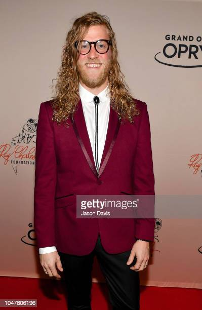 Recording artist Allen Stone Arrives at 'An Opry Salute to Ray Charles' at The Grand Ole Opry on October 8 2018 in Nashville Tennessee