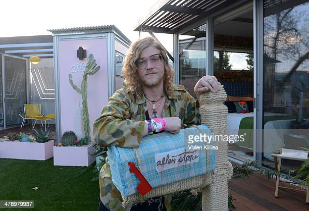 Recording artist Allen Stone attends the Allen Stone Pop Up And Performance At Airbnb Park During SXSW on March 15 2014 in Austin Texas