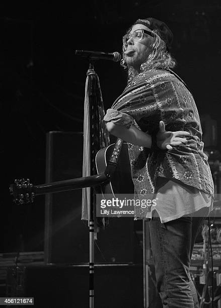 Recording artist Allen Stone performs onstage in concert at The Mayan on September 25 2014 in Los Angeles California