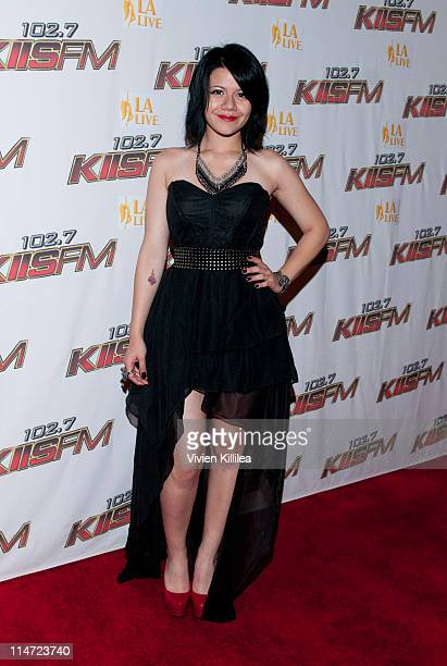 Recording artist Allison Iraheta attends KIIS FM's 10th Annual 'American Idol' Finale Viewing Party at Regal 14 at LA Live Downtown on May 25 2011 in...